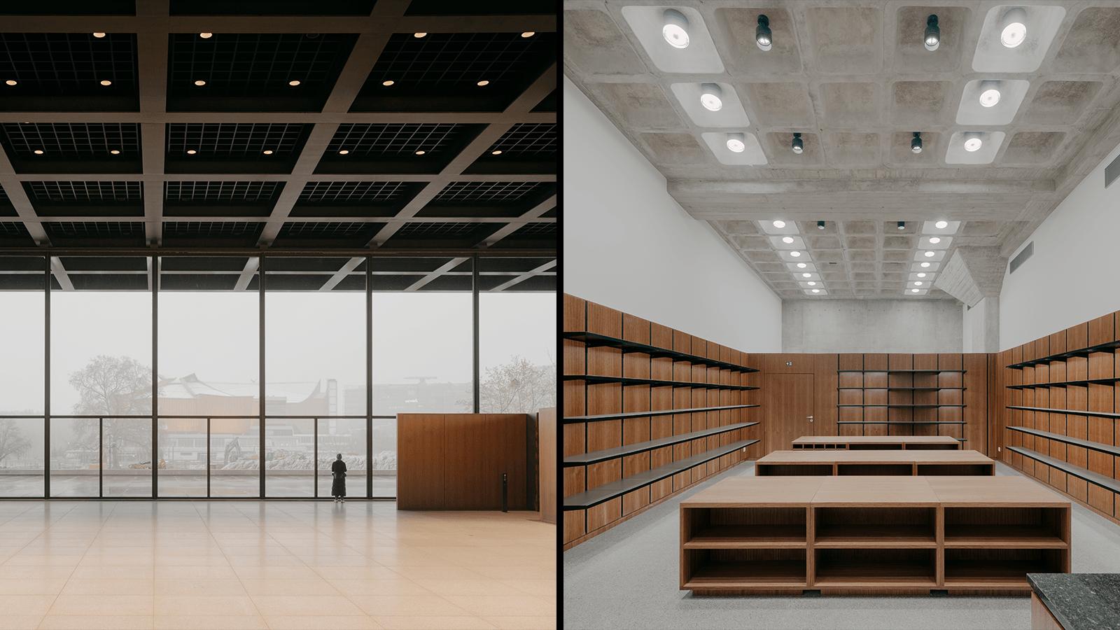 Das gewaltige Foyer und der neue Museumsshop der neuen Nationalgalerie.