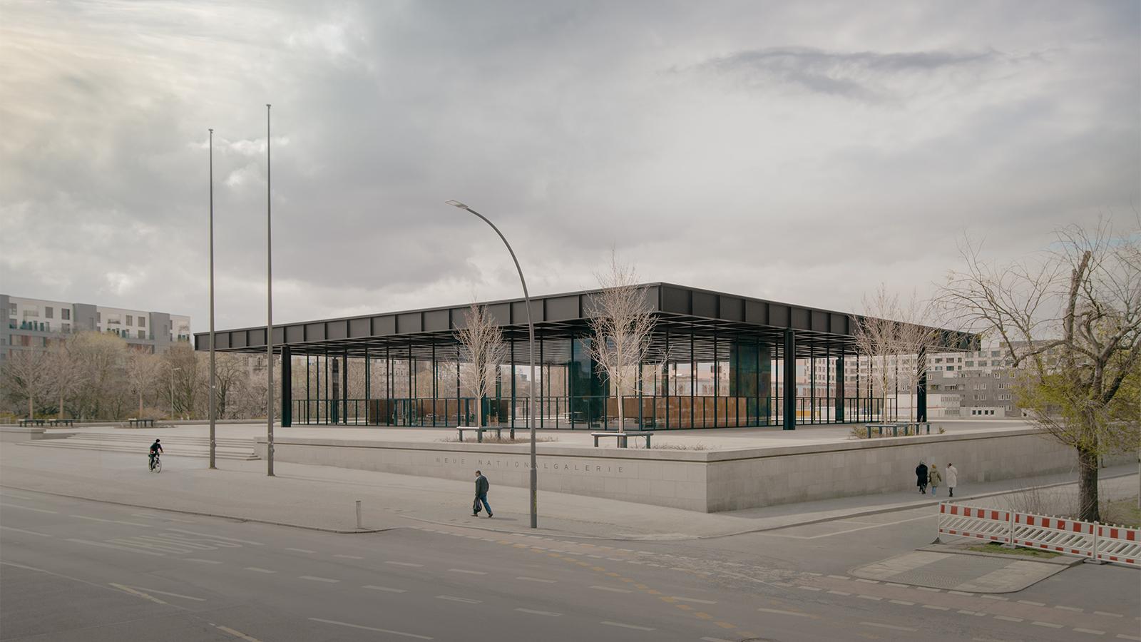 Die neue Nationalgalerie in Berlin von David Chipperfield Architects.