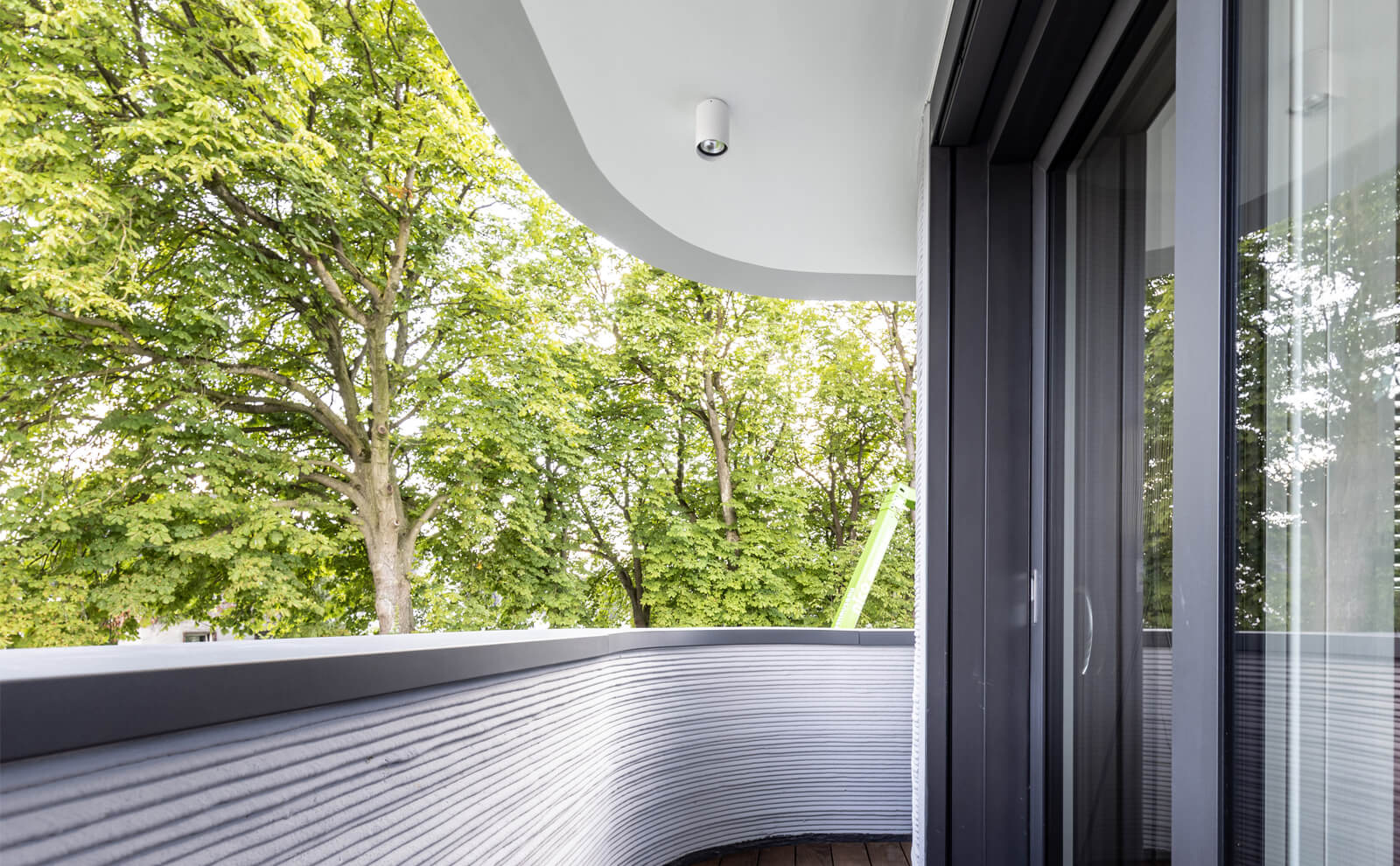 3D-Druckhaus Balkon