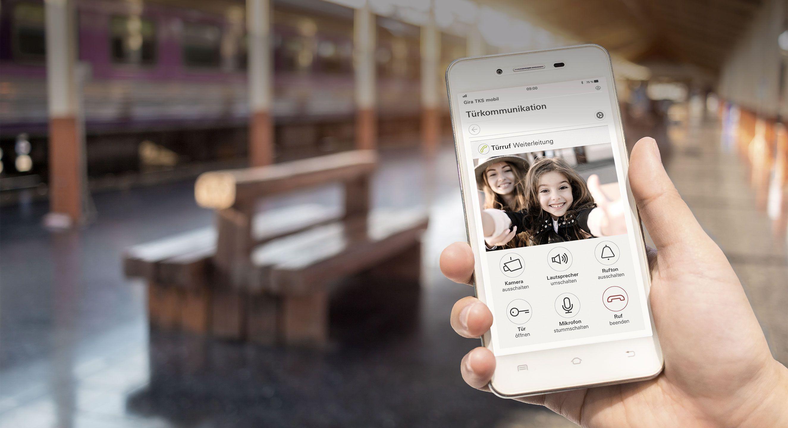 TKS mobil auf Handy