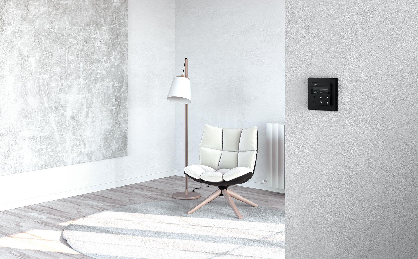 Gira System 3000 Raumtemperaturregler zur Heizungssteuerung
