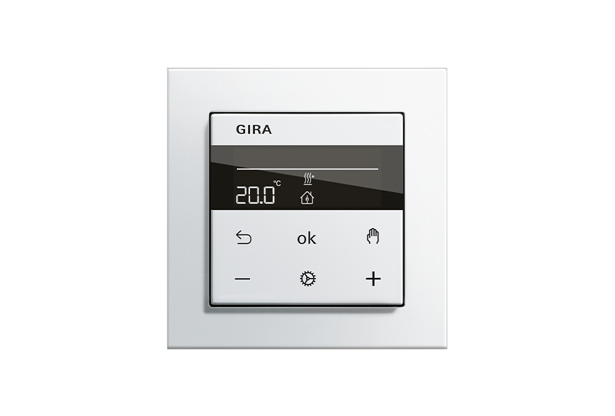 Gira System 3000 Raumtemperaturregler mit Bluetooth