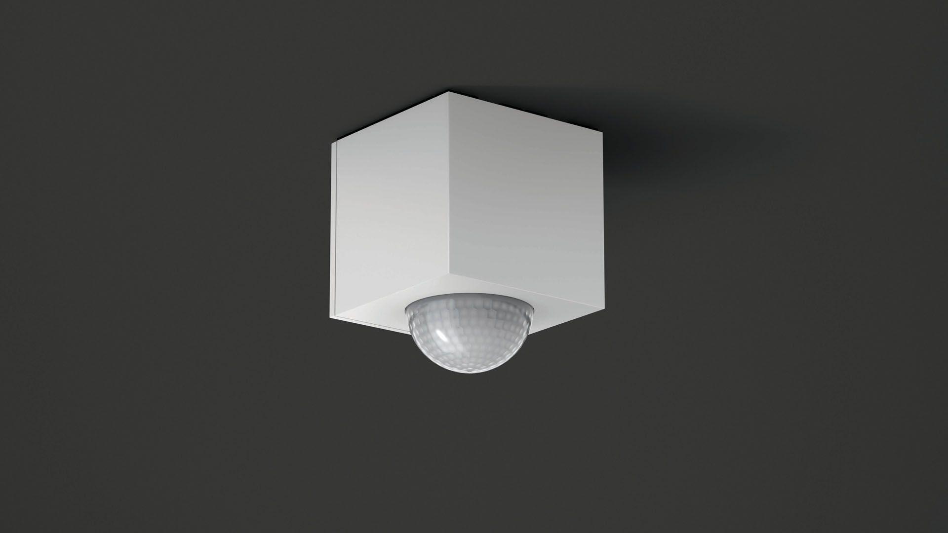 Gira Bewegungsmelder Cube Reinweiß glänzend
