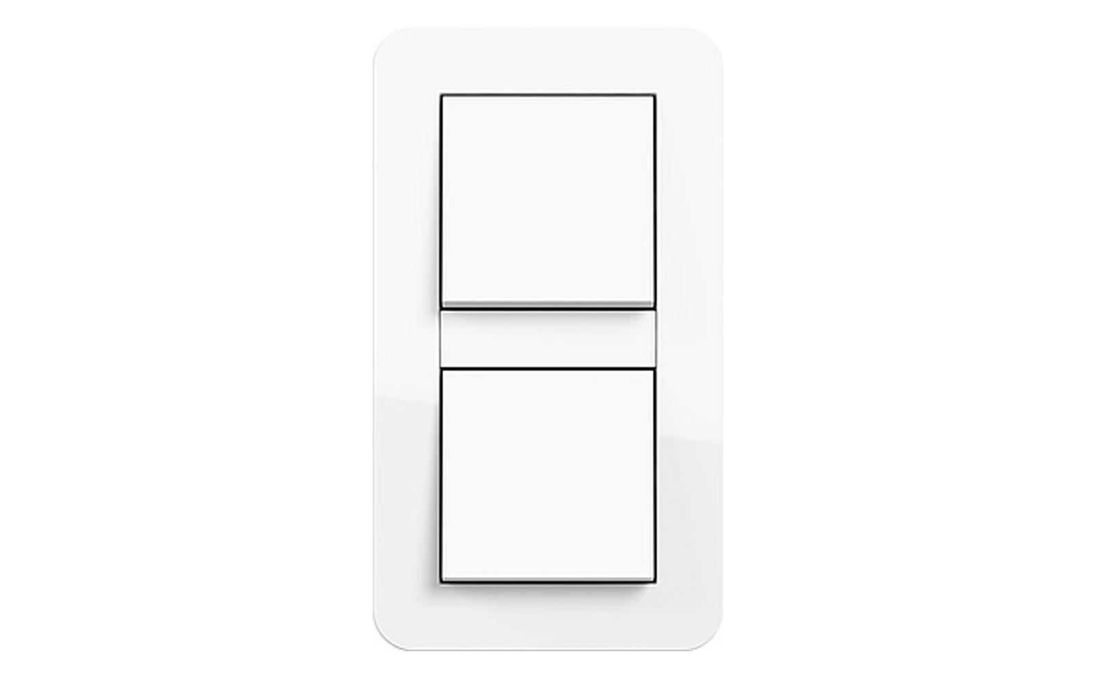 Wippschalter 2fach, Gira E3 Reinweiß glänzend