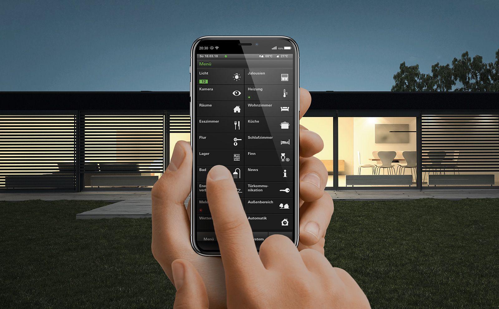 HomeServer App für die Jalousiesteuerung von draußen