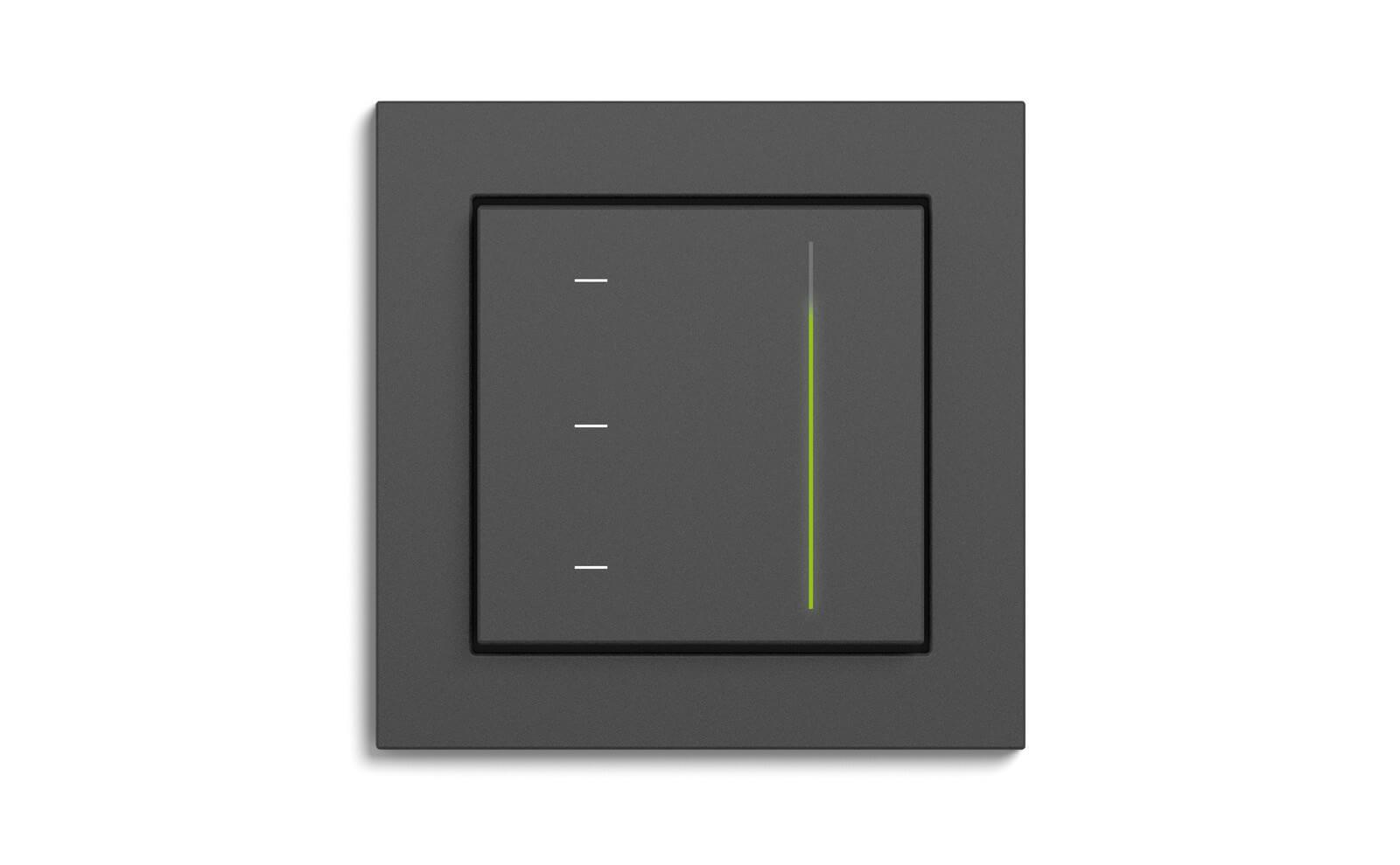 Gira System 3000 Touchaufsatz zur Lichtsteuerung mit dem Rahmen Gira E2
