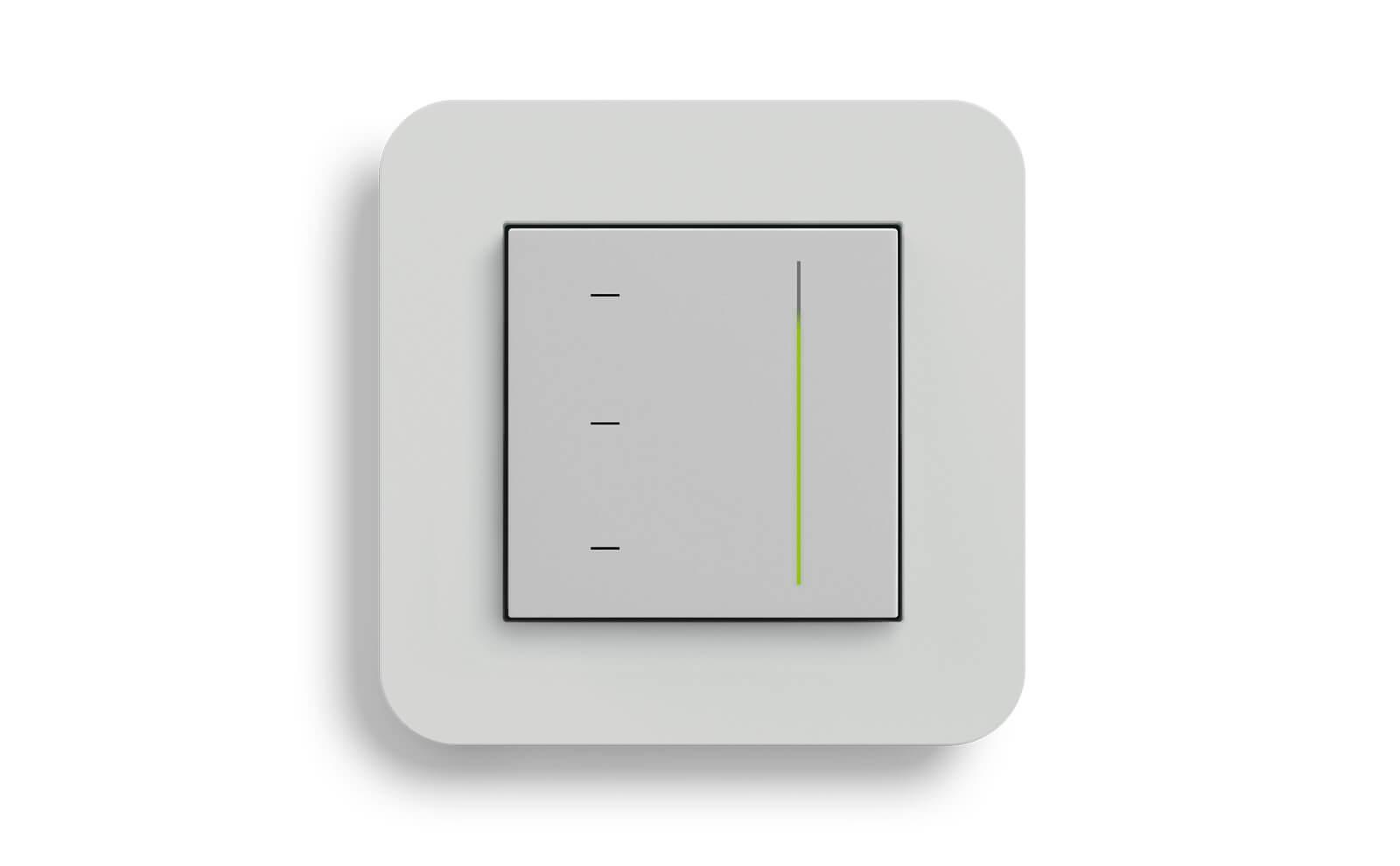 Gira System 3000 Touchaufsatz zur Jalousiesteuerung mit dem Rahmen Gira E3