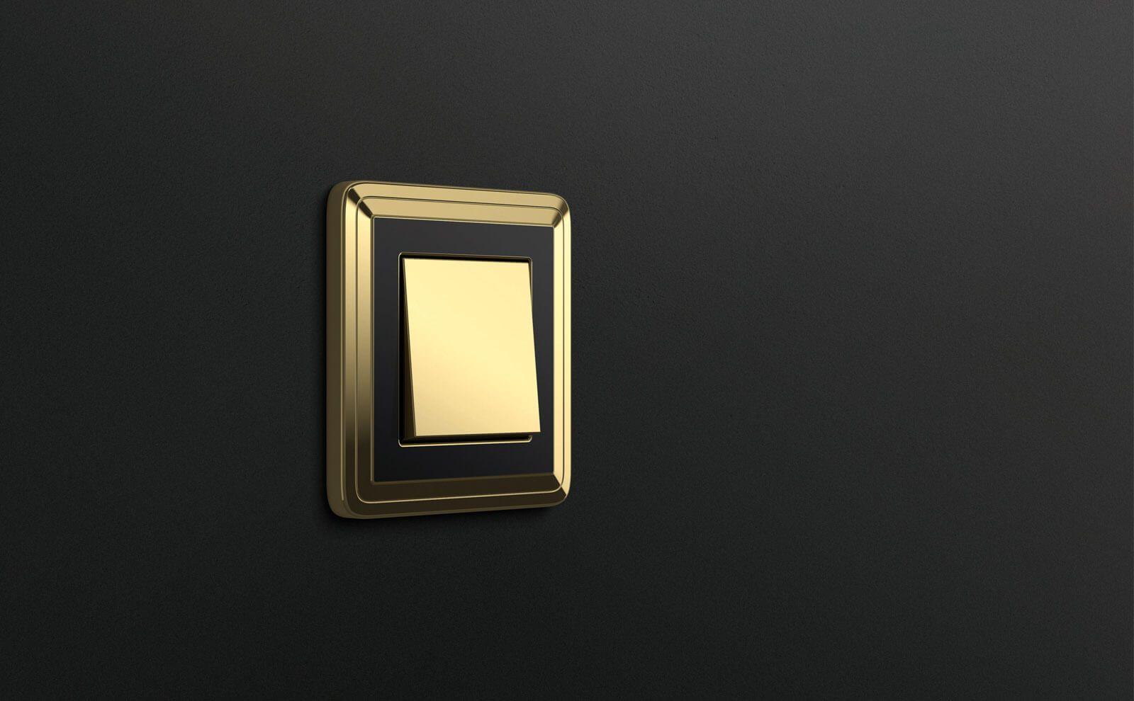 Gira Classix Schalter dunkler Hintergrund