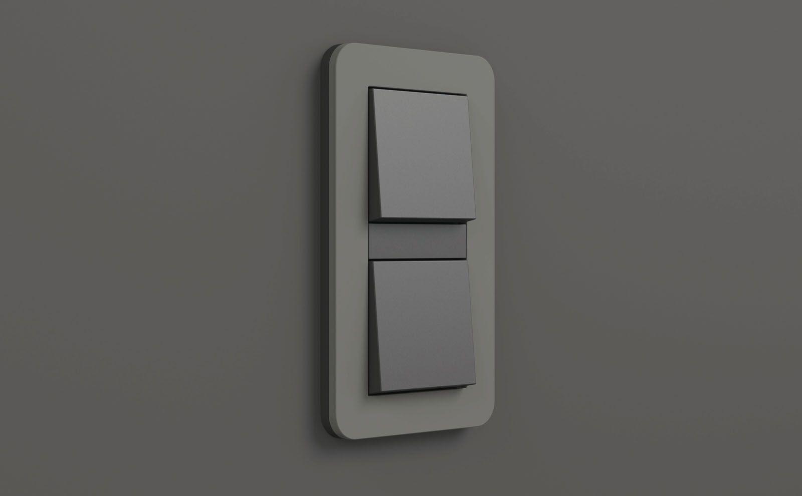 Gira E3 Lichtschalter Anthrazit