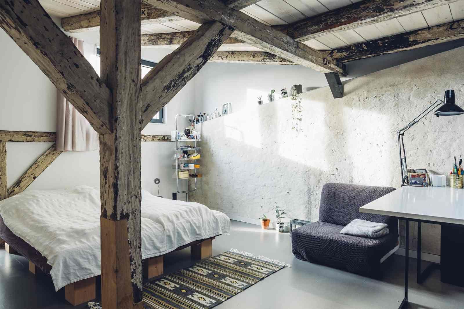 Berührungspunkte Wohnhaus Lübeck Schlafzimmer