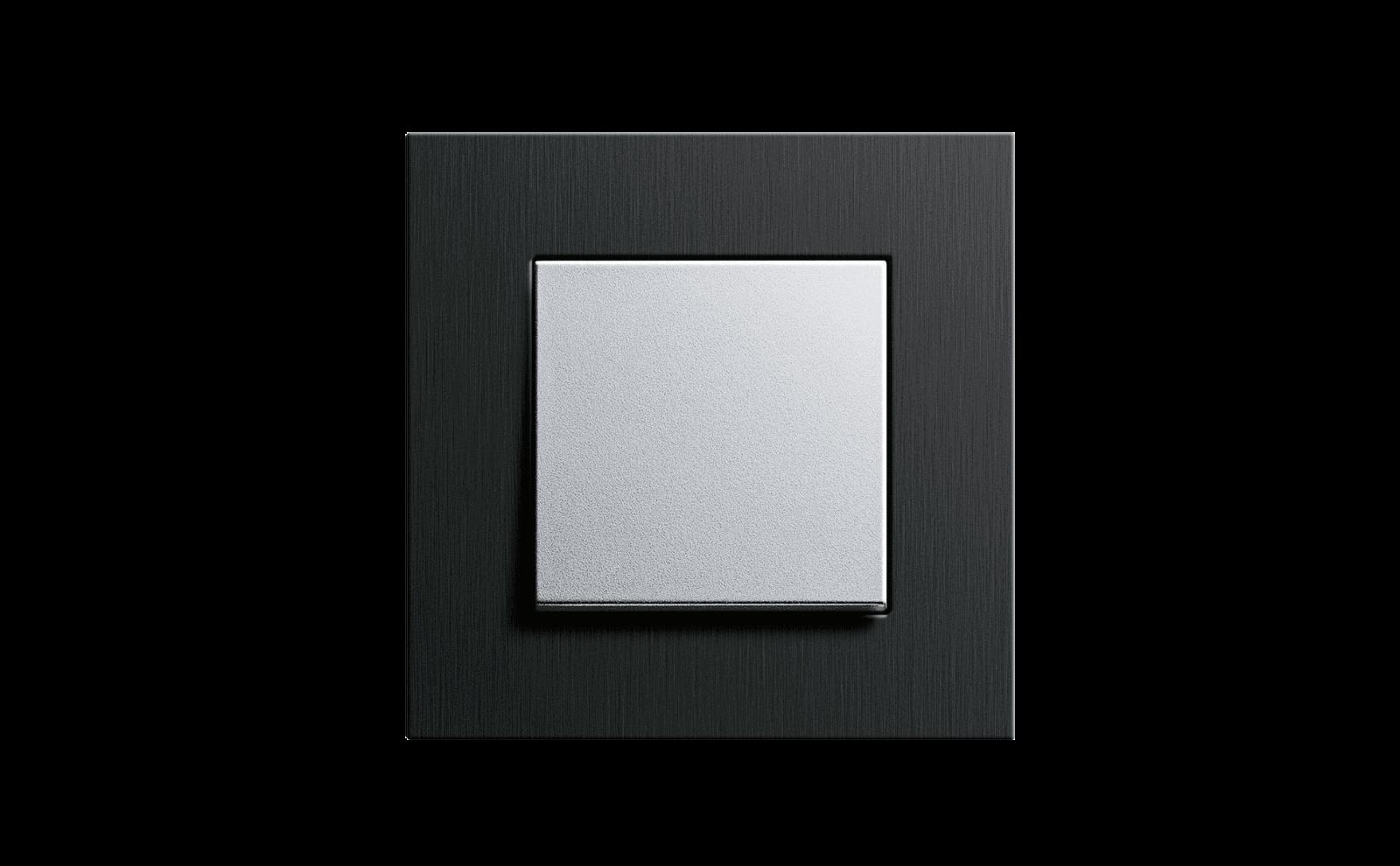 Gira Schalter, Esprit Aluminium Schwarz Farbe alu