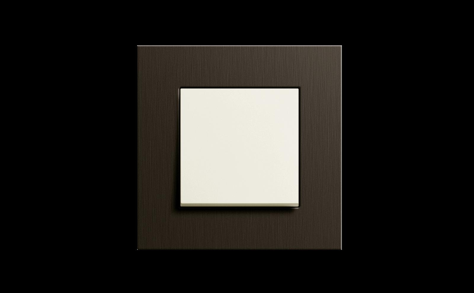 Gira Schalter, Esprit Aluminium braun cremeweiss glänzend