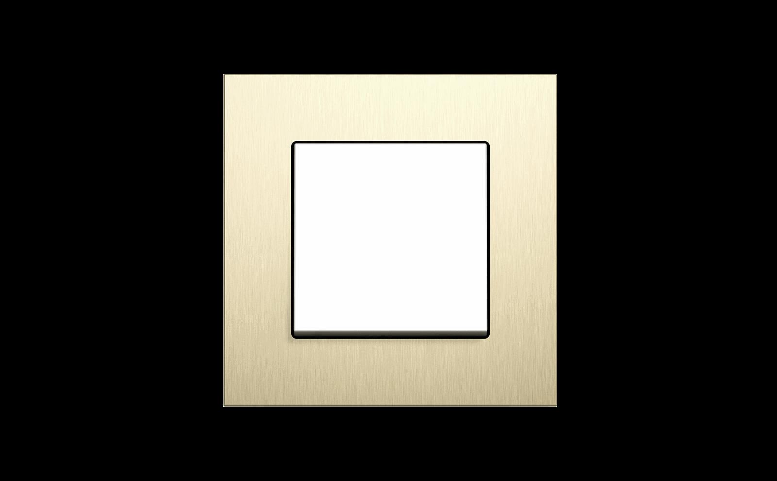 Gira Schalter, Esprit Aluminium hellgold reinweiss glänzend