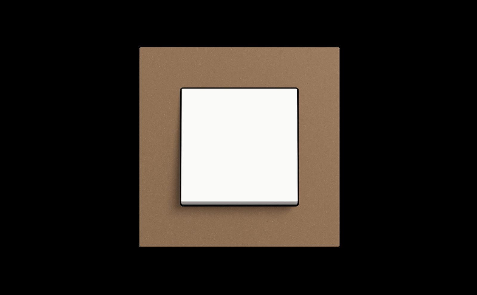 Gira Schalter, Reinweiß glänzend, Esprit, Linoleum-Multiplex Hellbraun