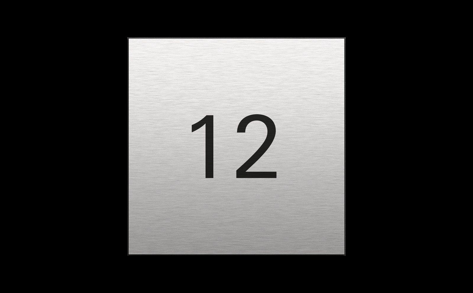 Gira System 106, Farbe Edelstahl, Infomodul mit Hausnummer