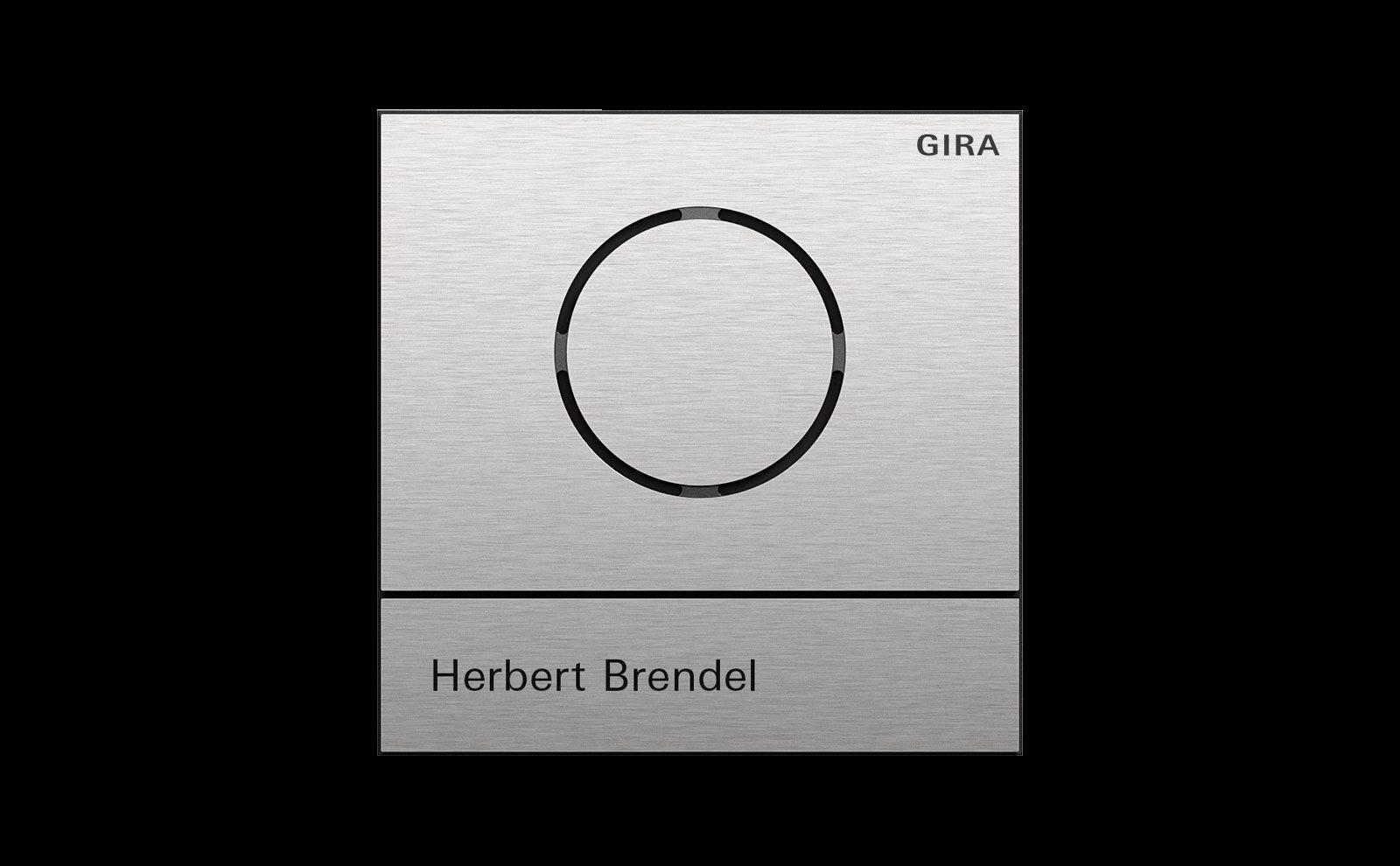 Gira System 106, Farbe Edelstahl, Freisprechanlage mit integrierter Ruftaste