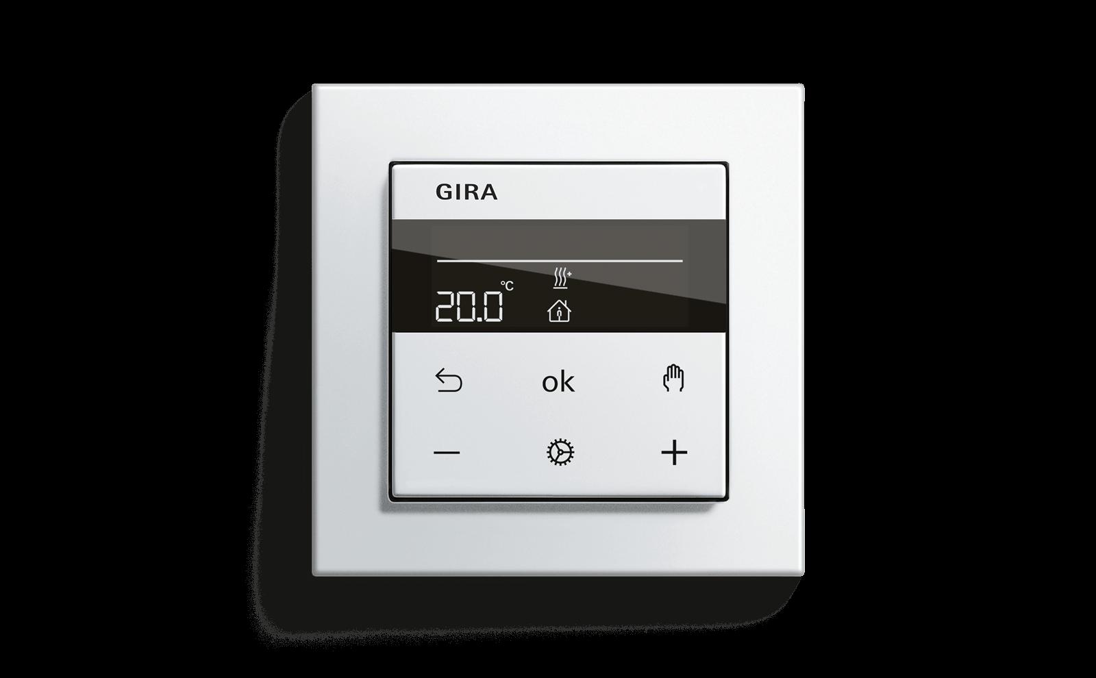 Gira System 3000 Aufsatz Heizungssteuerung