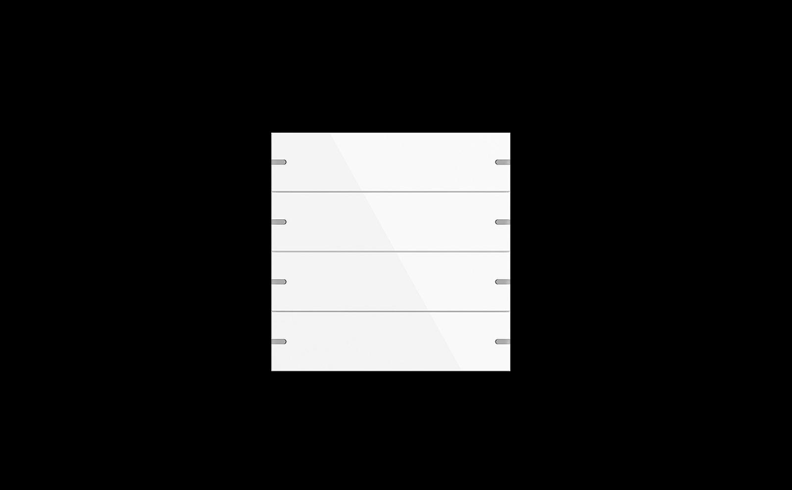 Gira Tastsensor 4 mit Wippenset 4fach in Glas Weiß