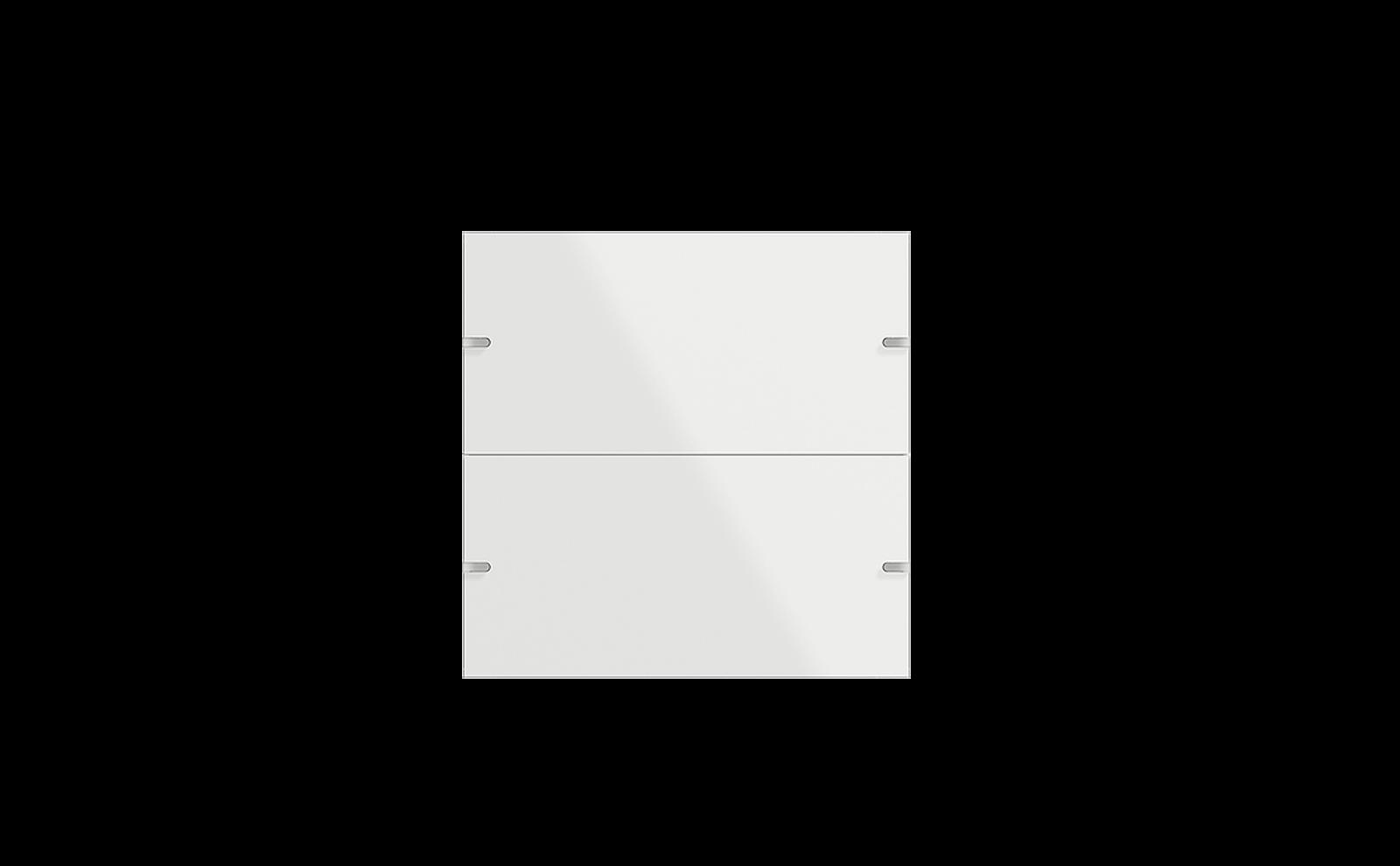 Gira Tastsensor 4 mit Wippenset 2fach in Glas Weiß