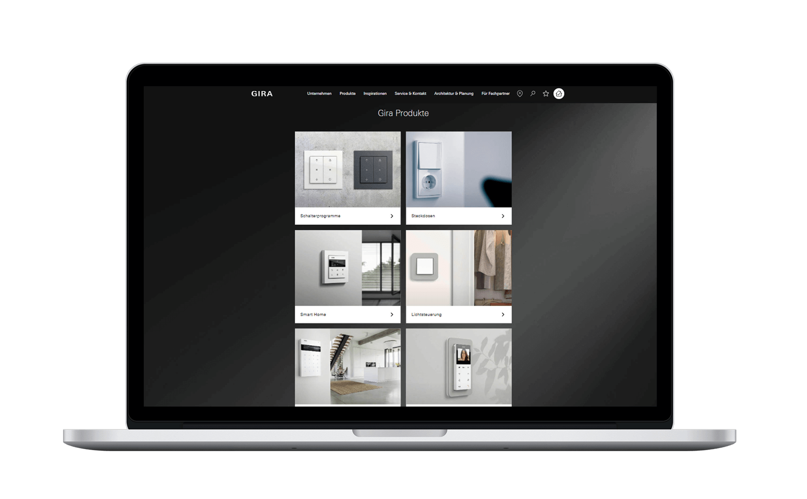 Gira Website auf Computer