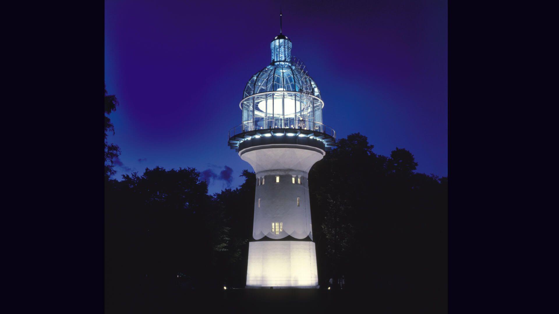 Lichtturm in der Nacht, Solingen