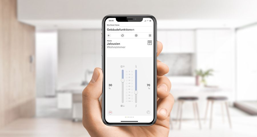 Gira Smart Home App Jalousiesteuerung