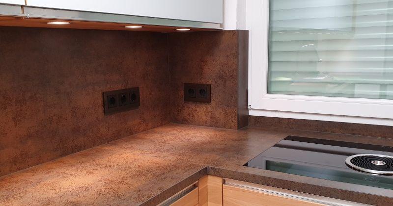 Gira Esprit Aluminuim Braun Küche