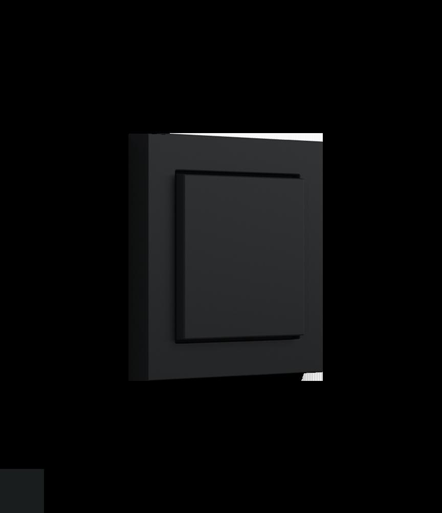 Gira E2 schwarz matt mit normalen Aufsatz