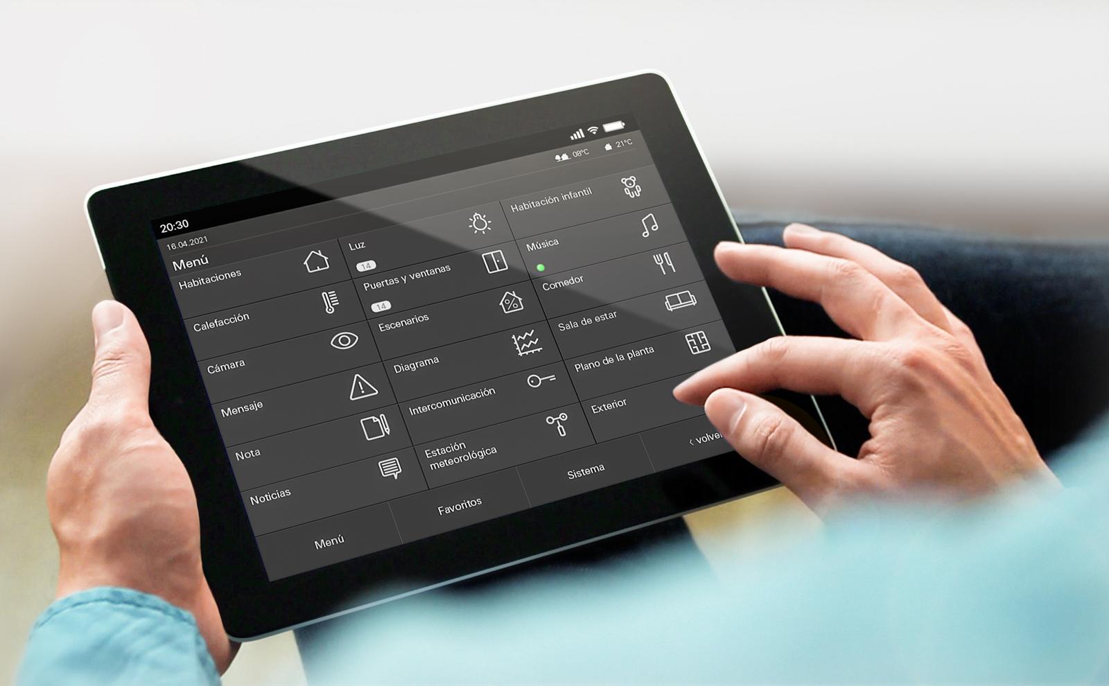 Gira HomeServer App Tablet