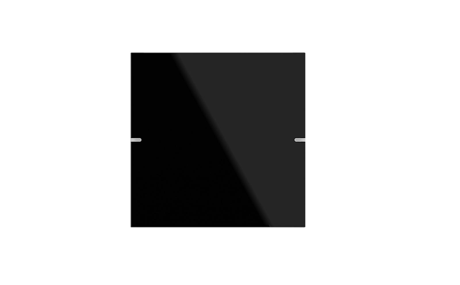 Gira Tastsensor 4 mit Wippenset 1fach in Glas Schwarz