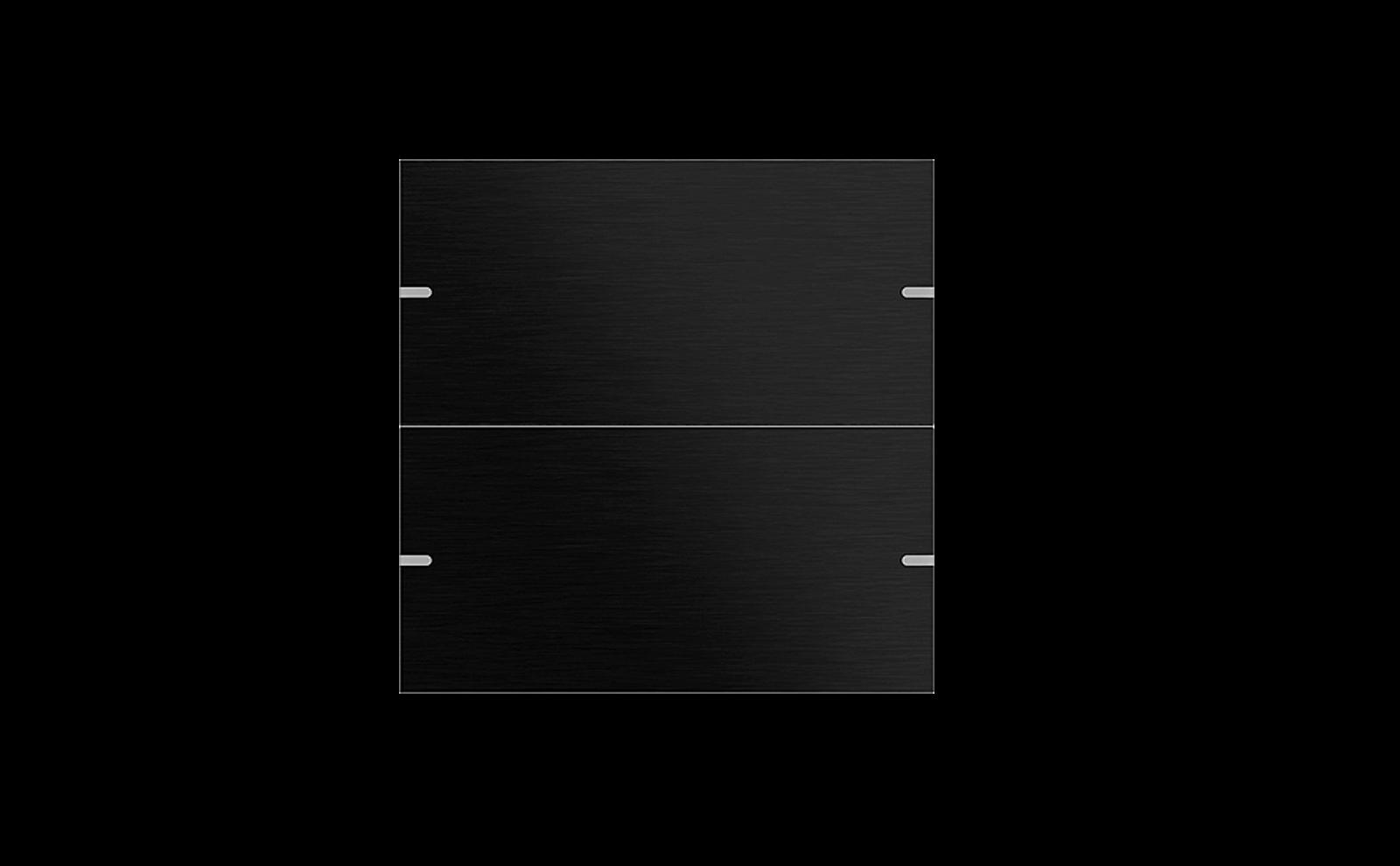Gira Tastsensor 4 mit Wippenset 2fach in Aluminium Schwarz