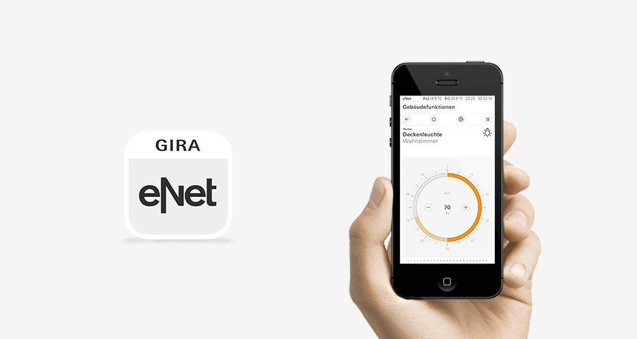 Gira eNet und Smartphone