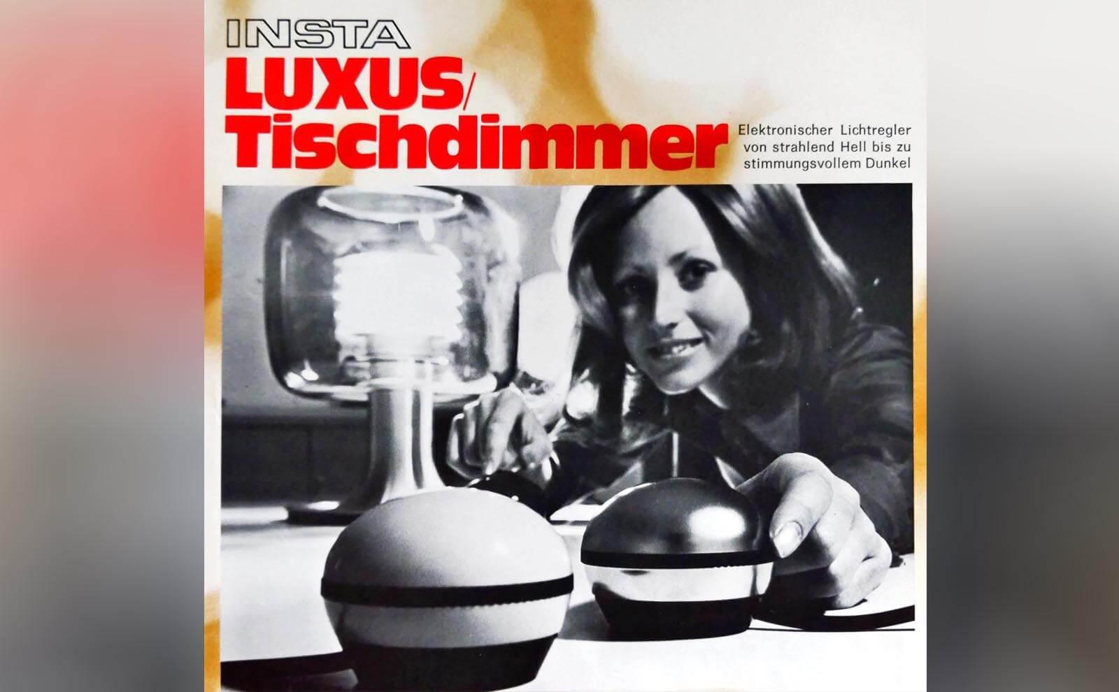 Der Insta Luxus Tischdimmer in den 70er Jahren