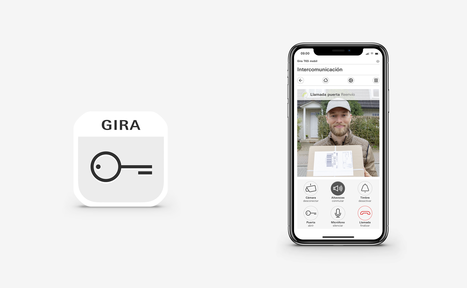 Smartphone mit Interface Tks mobil App