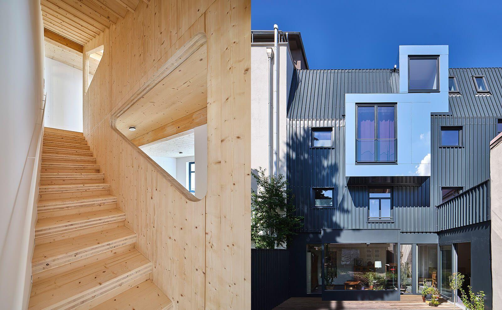 Wohnhaus Erfurt Innen- und Außenansicht