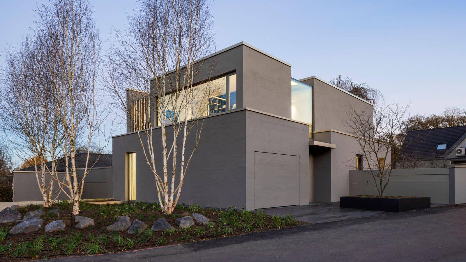 Moderner Neubau Wohnhaus von aussen