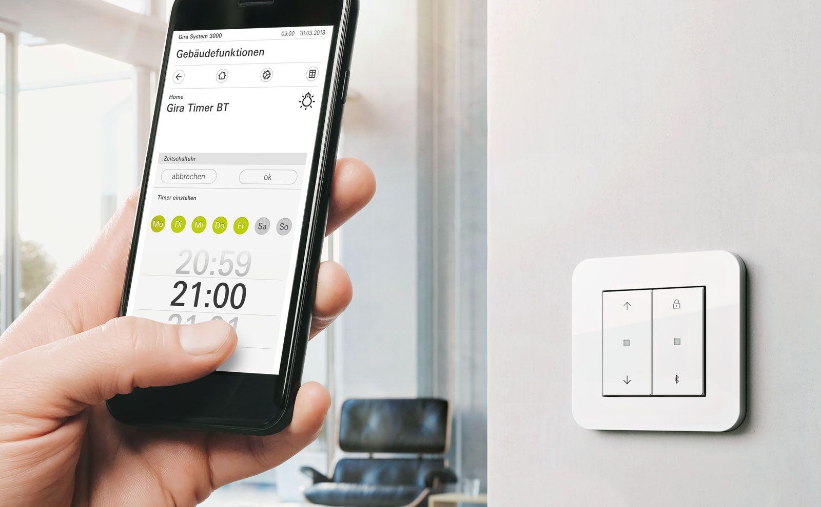 Gira System 3000 Schalter und Smartphone App