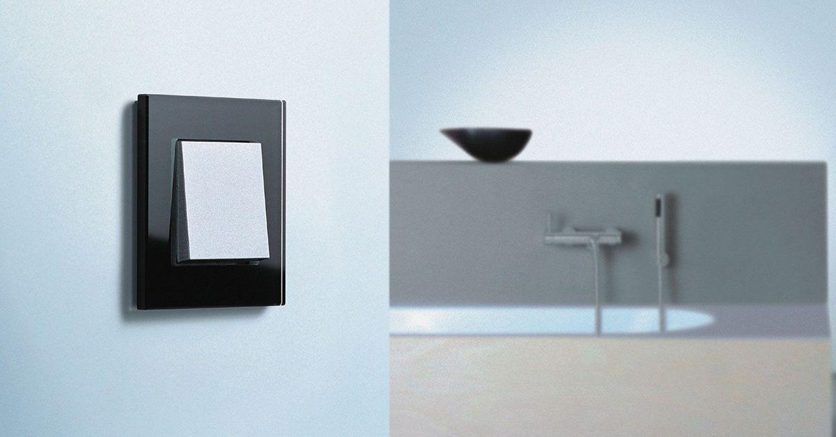 gira esprit schalter nat rliches material trifft auf. Black Bedroom Furniture Sets. Home Design Ideas