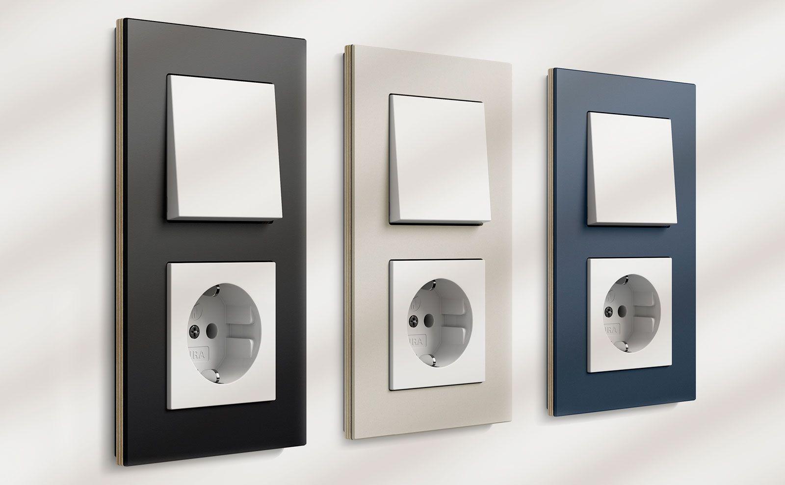 Gira Esprit Linoleum-Multiplex in 3 Farben