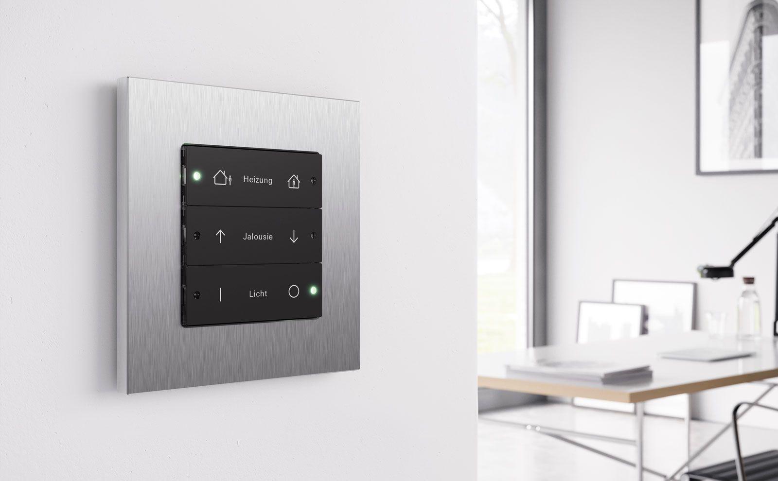 Gira Esprit Metall Schalter für Heizung, Jalousie und Licht