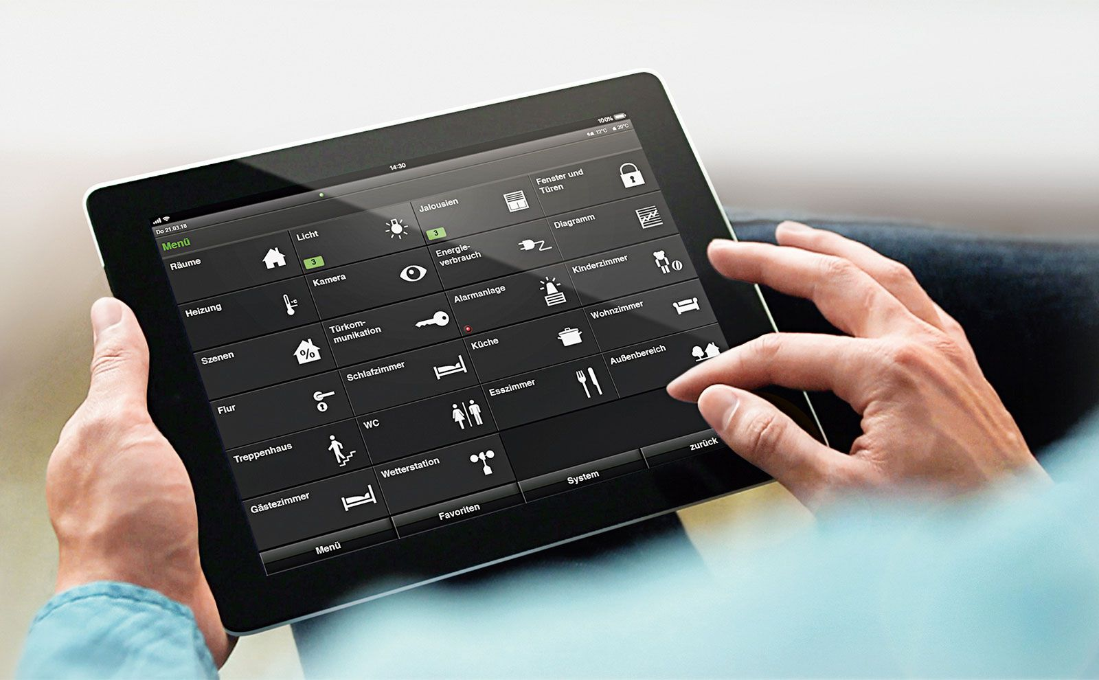 Gira HomeServer App auf Tablet