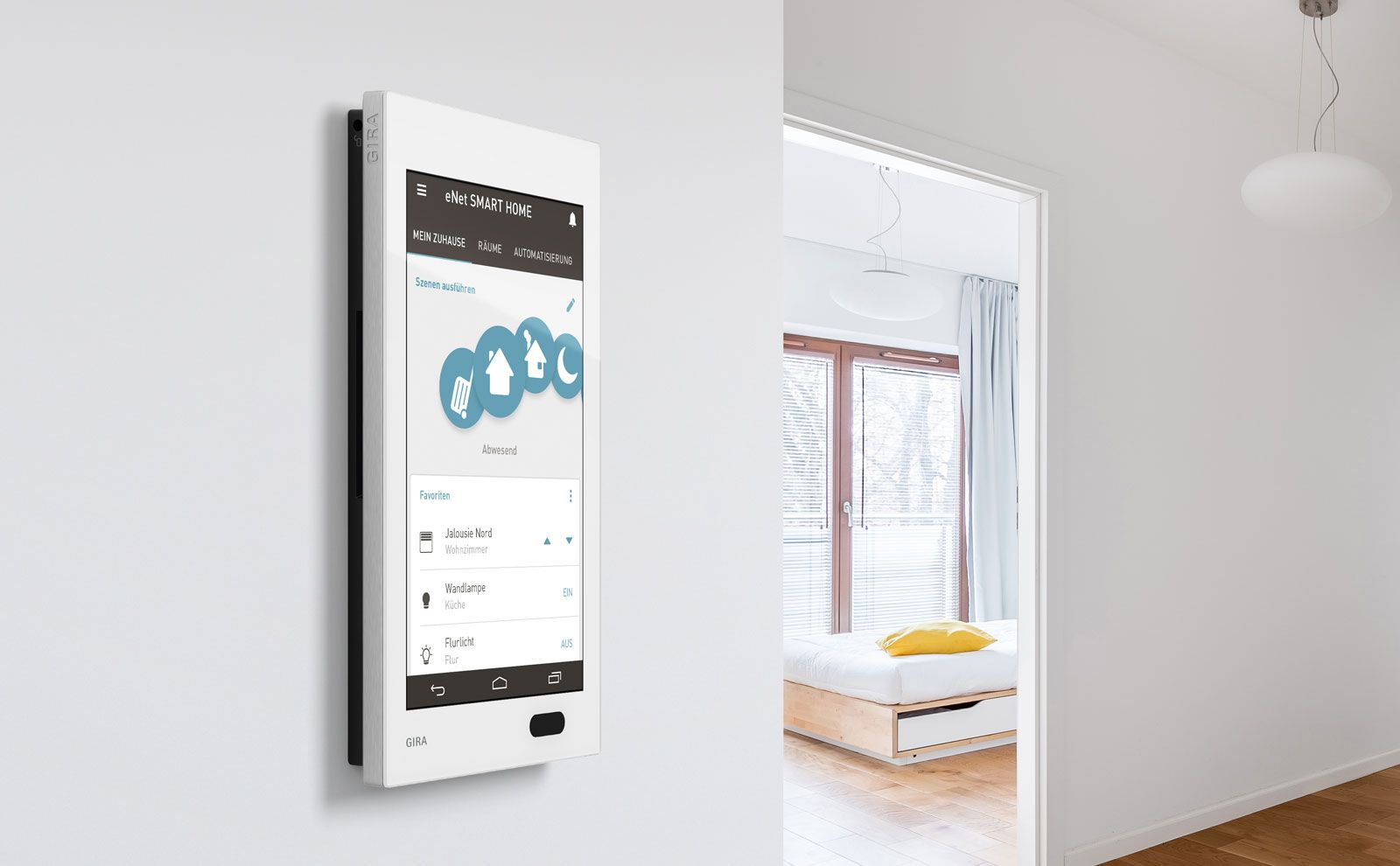 Gira eNet SMART HOME in Flur