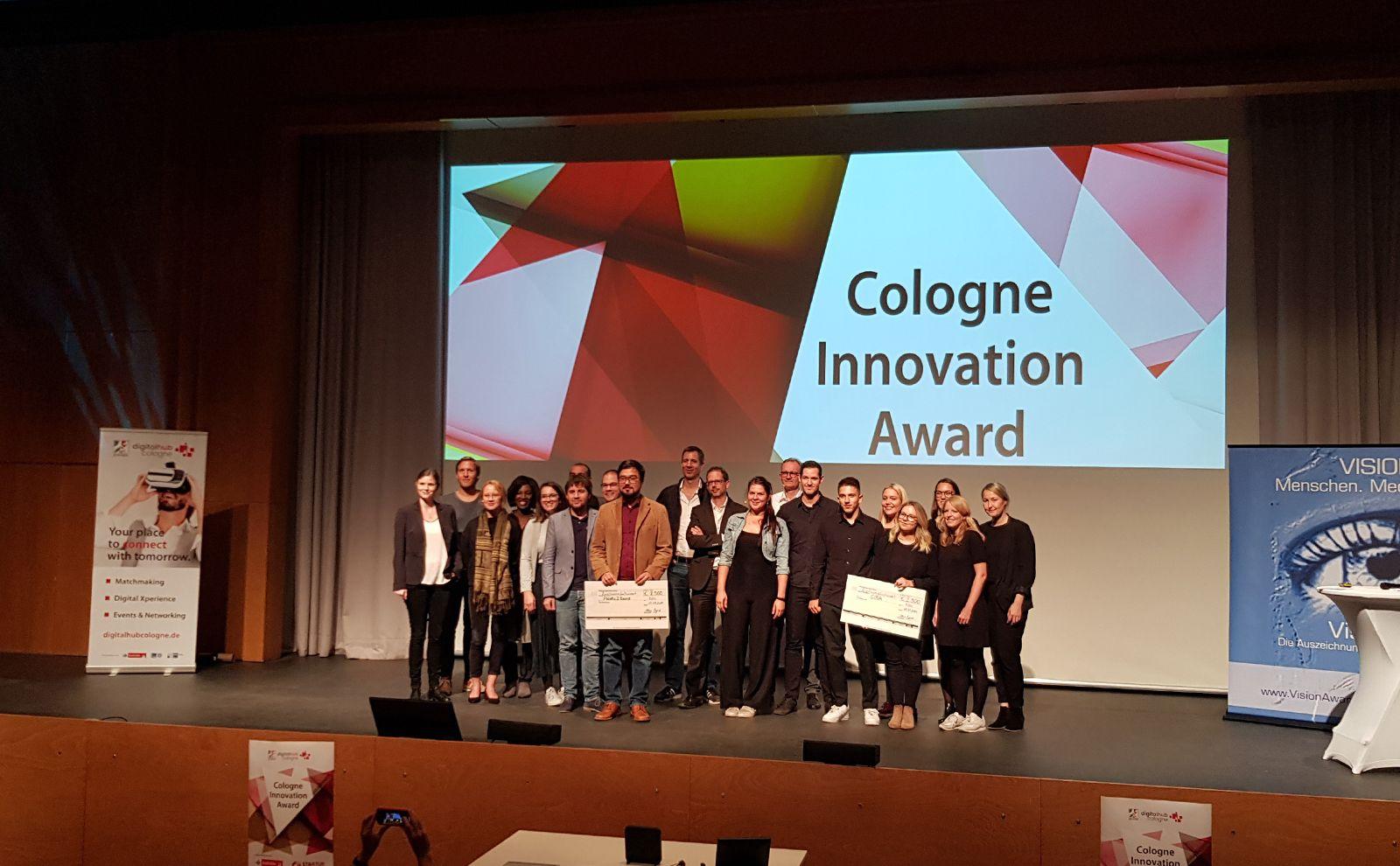 Cologne Innovation Award Preisträger auf der Bühne