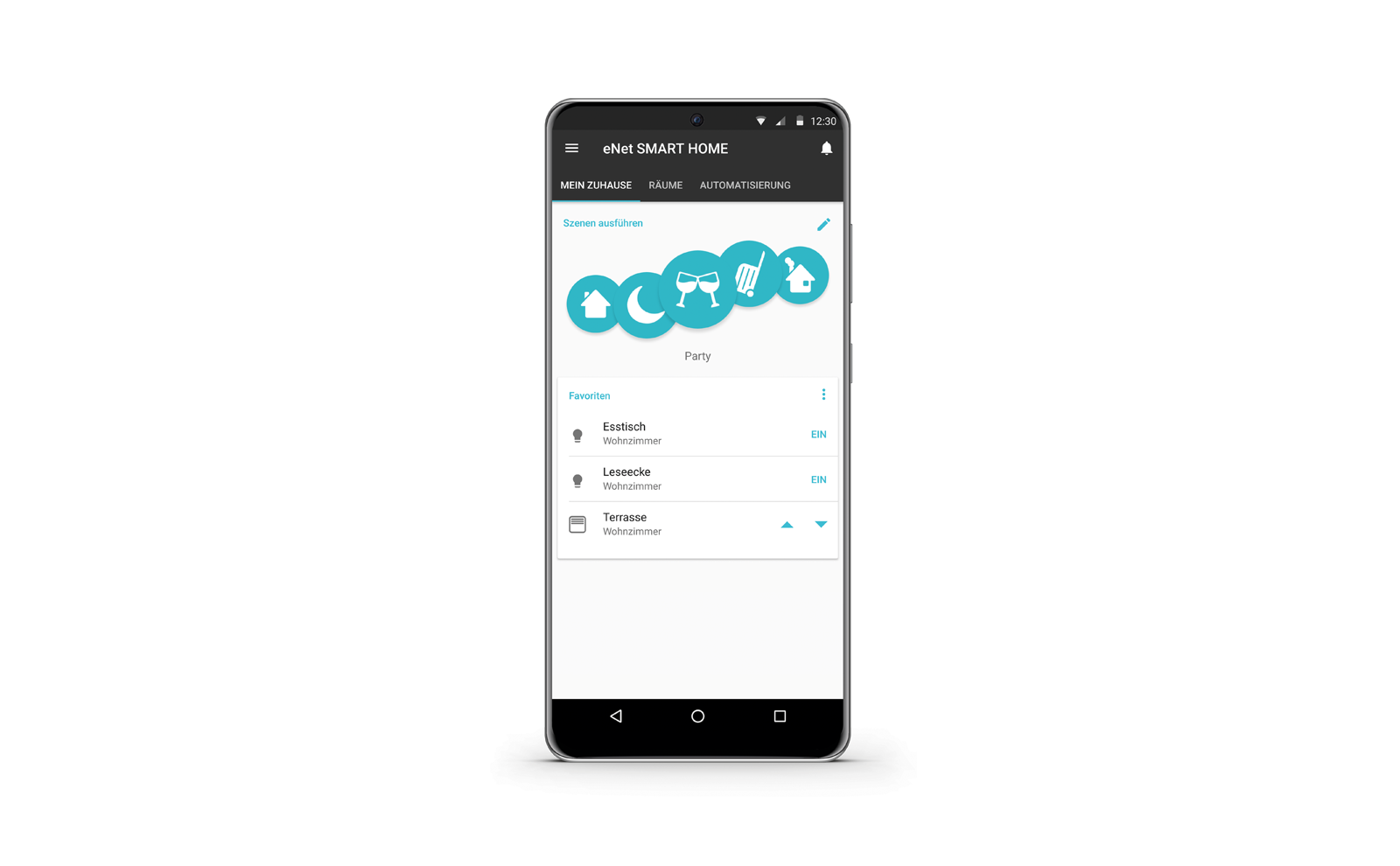 eNet Smartphone App Samsung Galaxy Android