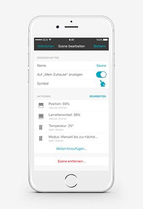 eNet Smart Home App Szenenkonfiguration