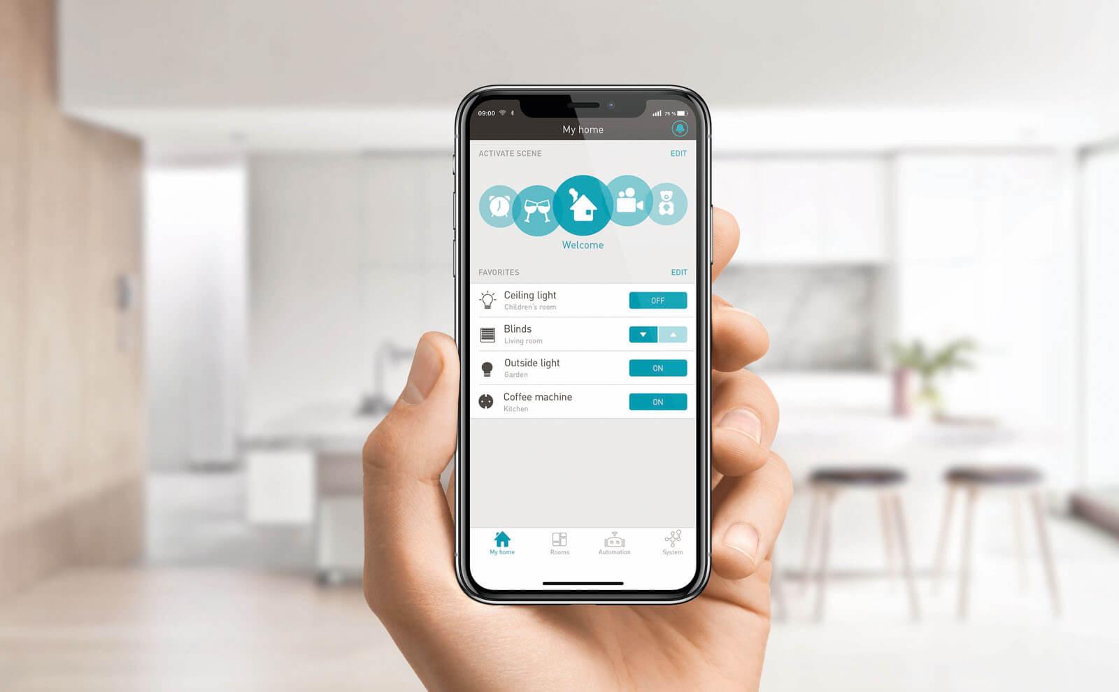 Gira eNet SMART HOME mobil