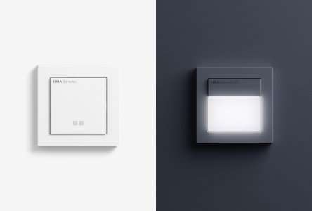 automatische lichtsteuerung bewegungsmelder pr senzmelder und w chter von gira. Black Bedroom Furniture Sets. Home Design Ideas