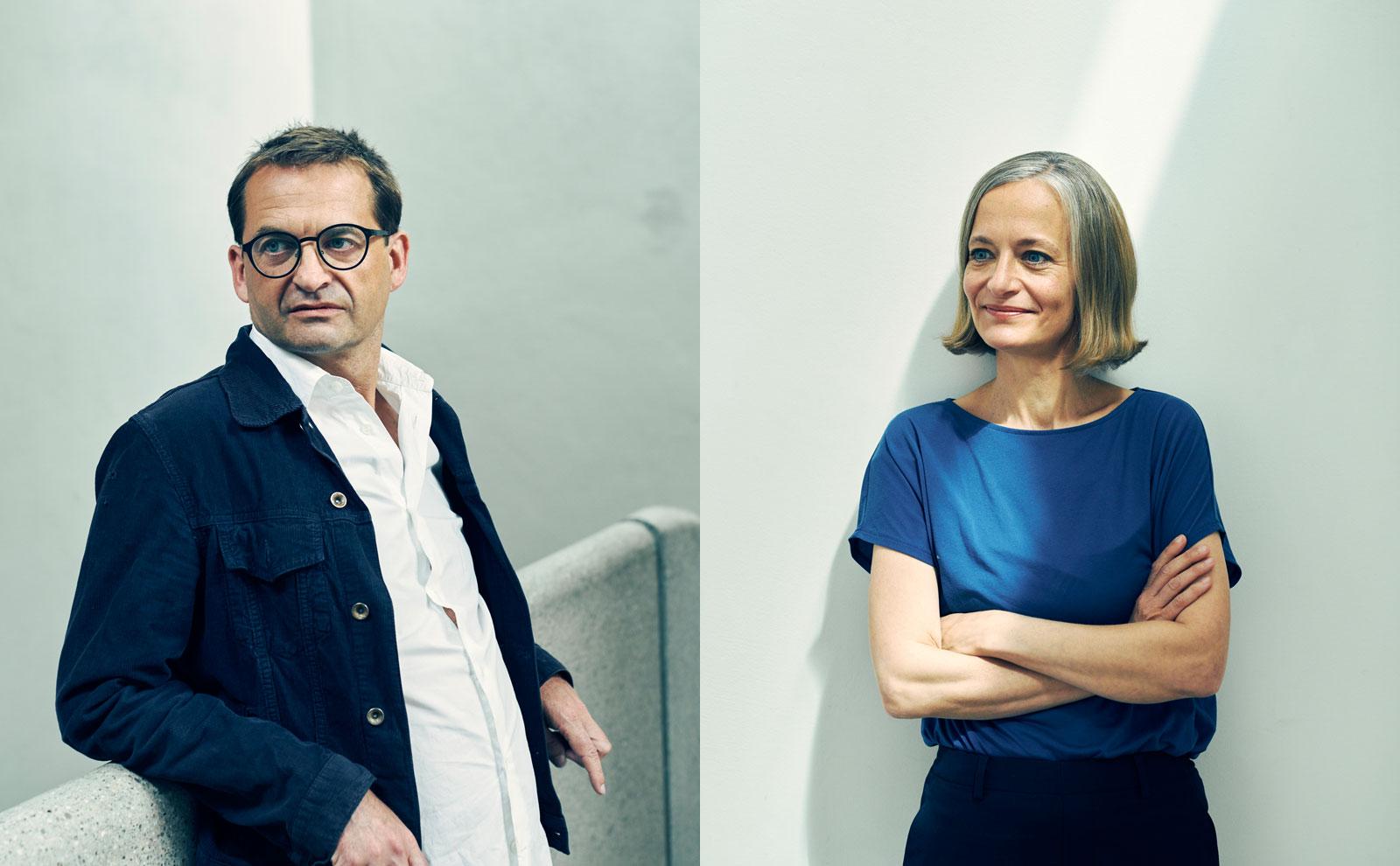 Die Architektinnen Mareike Lamm und Konrad Opitz von Sauerbruch & Hutton zeigen sich für den Gira Neubau verantwortlich