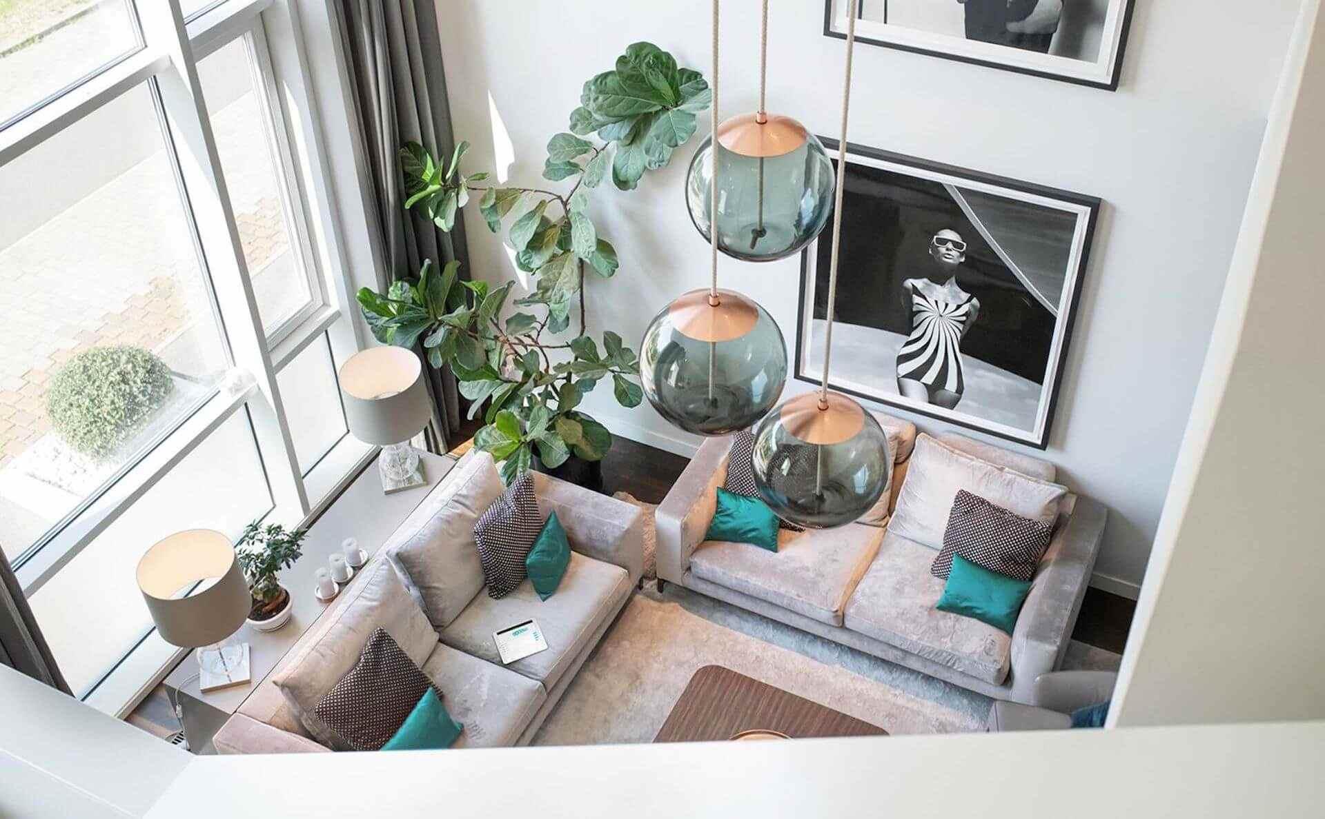 Smart Home Lichtsteuerung Wohnzimmer