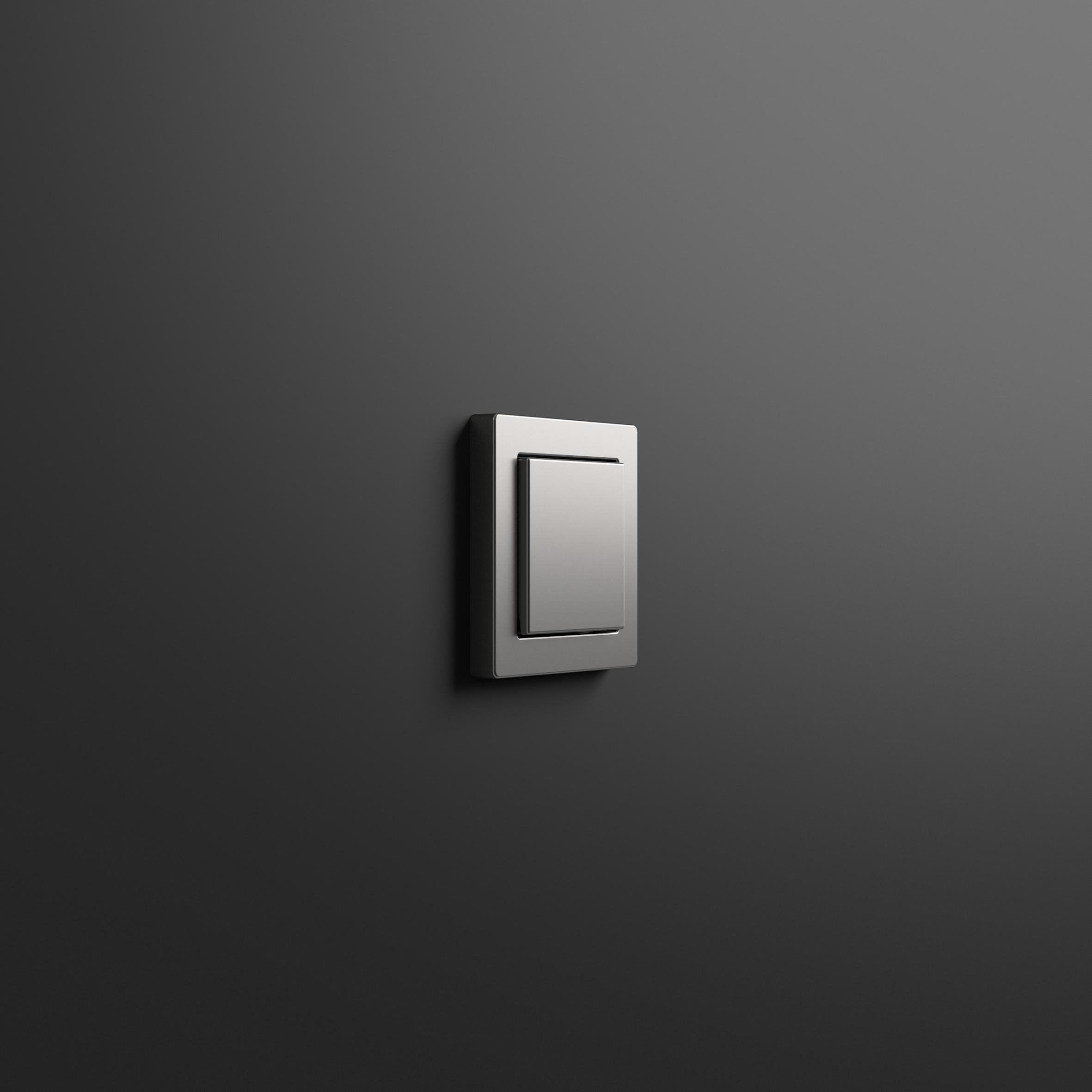 schalterserie gira e2 in edelstahl und flacher montageart. Black Bedroom Furniture Sets. Home Design Ideas
